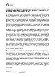 Moció dels grups municipals del PSC i ICV-EUiA en contra de la ...