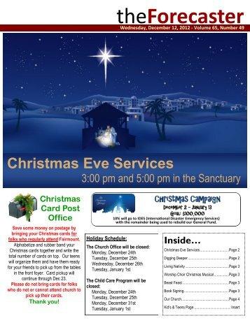 Dec 12: Cover Story - Christmas Eve Services - Fairmount Christian ...