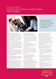Strategic travel management - Corporate Traveller