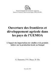Ouverture des frontières et développement agricole dans les ... - CSA