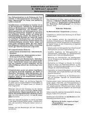 Amtsblatt Kultus und Unterricht Nr. 1/2010 vom 7. Januar 2010 ...