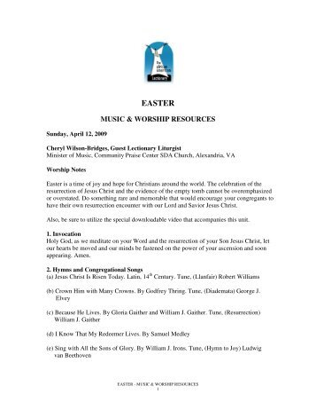 EASTER - The African American Lectionary