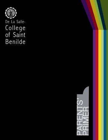 Parents' Primer - De La Salle-College of Saint Benilde