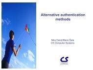 Alternative authentication methods - CUC@CARNet.hr