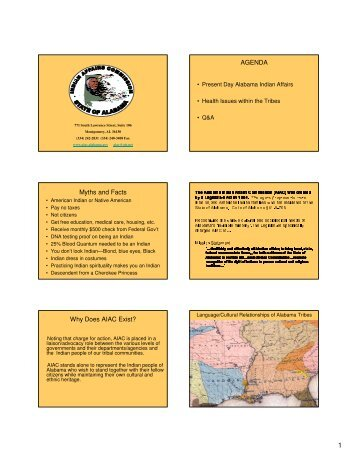Indian Affairs Commission - Alabama Department of Public Health