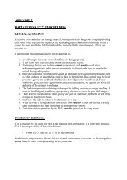Radiation Safety Procedures and Licenses APPENDIX X