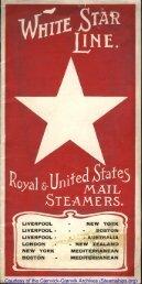 White Star Line Brochure, 1906 - RMS Republic