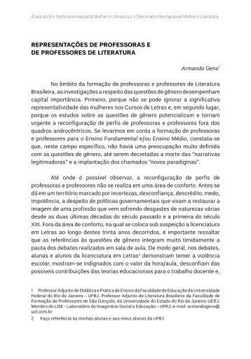 REPRESENTAÇÕES DE PROFESSORAS E DE ... - TEL