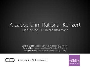 A cappella im Rational-Konzert - Zühlke