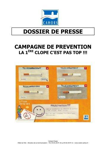 Campagne de prévention La 1ère clope c'est pas top - Cahors