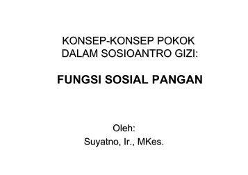bab9-Fungsi Sosial Pangan - Suyatno, Ir., MKes