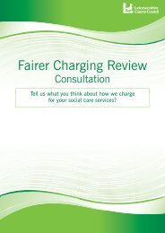 Fairer Charging Review - Leicestershire County Council