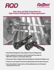 Fast, Easy and Safe Connections for High Pressure Refrigeration ...
