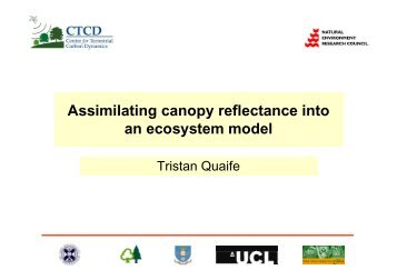 Assimilating canopy reflectance into an ecosystem model - JULES