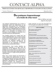 Décembre 2001 (volume 3, numéro 4) - Coalition ontarienne de ...