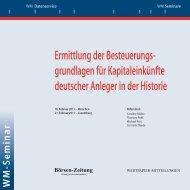 Ermittlung der Besteuerungs- grundlagen für ... - WM Datenservice