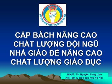 Giáo viên - TS. Nguyễn Tùng Lâm - VVOB