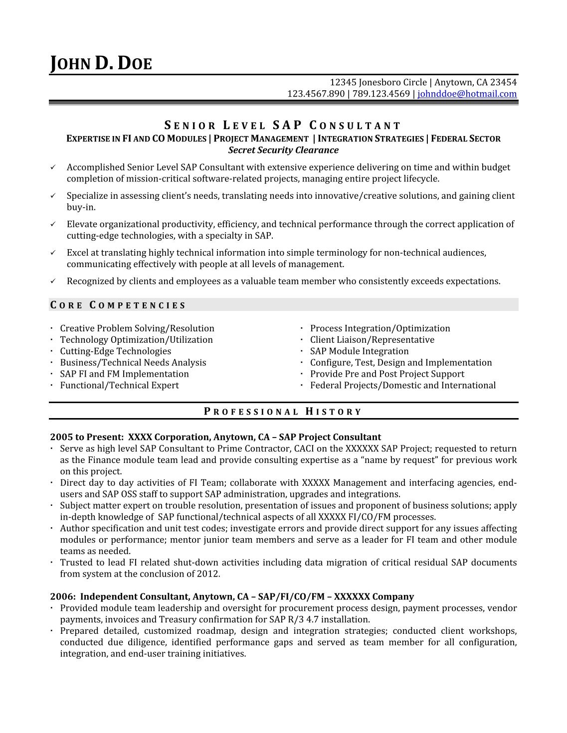 5 free magazines from storeylineresumes com for Sample resume for sap fico consultant