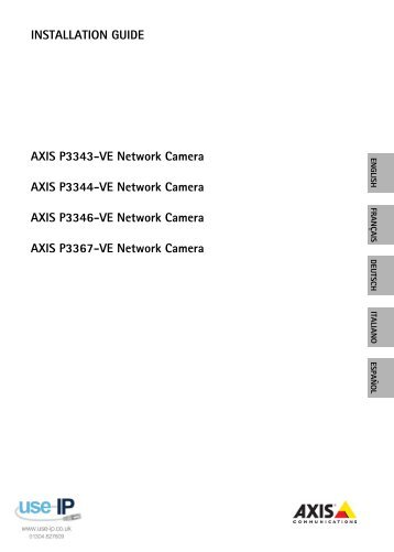 Axis P3367-VE Installation Guide - Use-IP