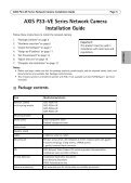 Axis P3367-VE Installation Guide - Use-IP - Page 5
