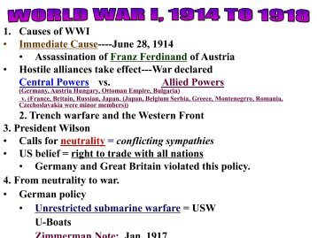 Chapter 29 Lecture _and chapter 30_ _WWI
