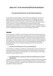 Natur Pur - und Werkrealschule Neubulach