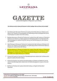 1. Erste Änderung der Ordnung des Präsidiums der Leuphana ...