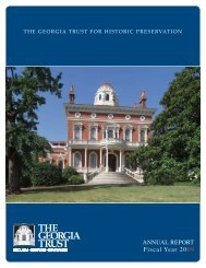 2009 Annual Report.indd - The Georgia Trust for Historic Preservation