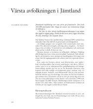 Lillemor Sahlberg: Värsta avfolkningen i Jämtland