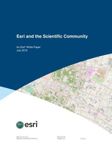 esri-and-the-scientific-community