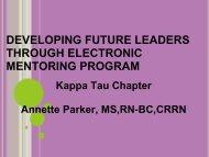 developing future leaders through electronic mentoring program