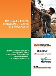 the human rights situation of dalits in bangladesh - International ...