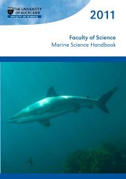 Marine Science Handbook - Faculty of Science - The University of ...