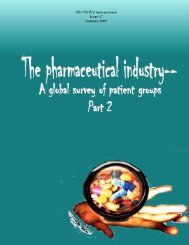 The Pharmaceutical Industry A Global Survey Of Patient Groups