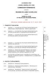 sommaire commission permanente reunion du lundi 16 avril 2012