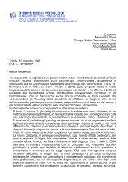 Il Presidente Tonzar invia una lettera ai parlamentari regionali che ...