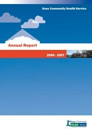 2006-2007 Annual Report - Knox Community Health Service