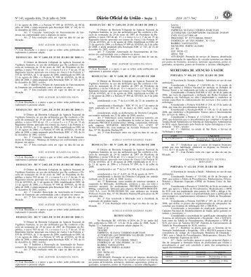 Nº 143, segunda-feira, 28 de julho de 2008 ISSN 1677-7042 ... - MCJ
