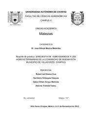 Malezas - Universidad Autónoma de Chiapas
