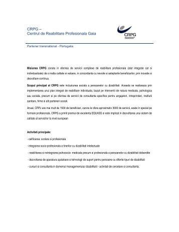 Centrul de Reabilitare Profesionala Gaia - Fundatia Pentru Voi