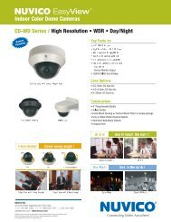 Indoor Color Dome Cameras CD-WD Series / High ... - DWG