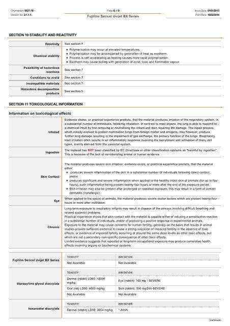 Chemwatch Australian MSDS 6627-78 - FUJIFILM Australia