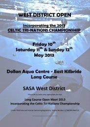 WEST DISTRICT OPEN SASA West District - Swim Ireland