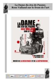 La Dame du Jeu de Paume. Rose Valland sur le ... - Montauban.com