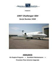1997 Challenger 604 Serial Number 5360 - Business Air Today