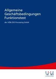 Allgemeine Geschäftsbedingungen Funktionstest (PDF) - VÖB-ZVD ...