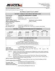 MATERIAL SAFETY DATA SHEET - Infobuild