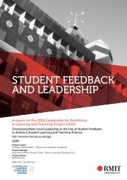 student feedback and leadership - Office for Learning and Teaching