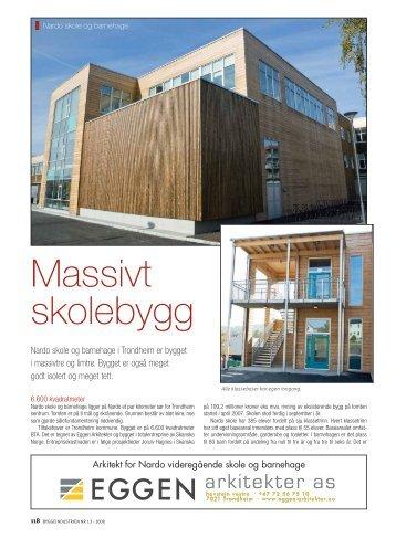 Massivt skolebygg - Kebony
