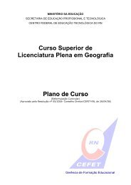 Curso Superior de Licenciatura Plena em Geografia Plano de ... - Ifrn